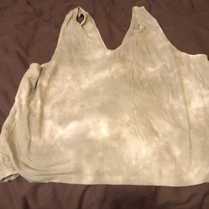American Eagle Outfitters Tops - American eagle rib knit tank crop size ex L